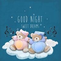 25cm Kawaii Teddy Bear Musical Light Plush Dolls Pat Lamp Sleeping Comfort LED Night Light Appease Bear Toys for Children Gifts