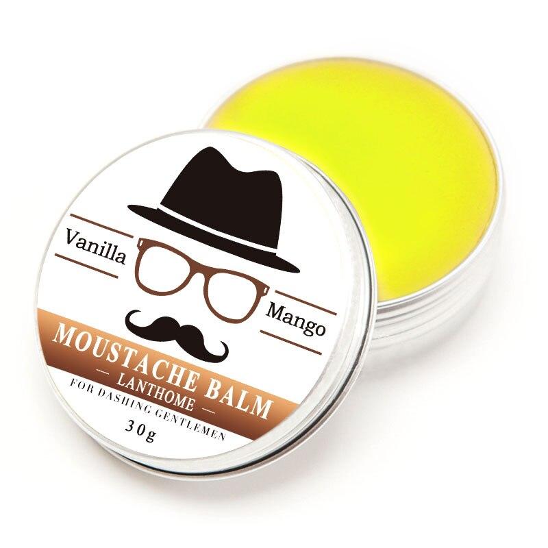 Lanthome 30G Gift Natural <font><b>Beard</b></font> Oil Conditioner <font><b>Beard</b></font> <font><b>Balm</b></font> for <font><b>Beard</b></font> Growth and <font><b>Organic</b></font> Moustache <font><b>Balm</b></font> for <font><b>Beard</b></font> Styling