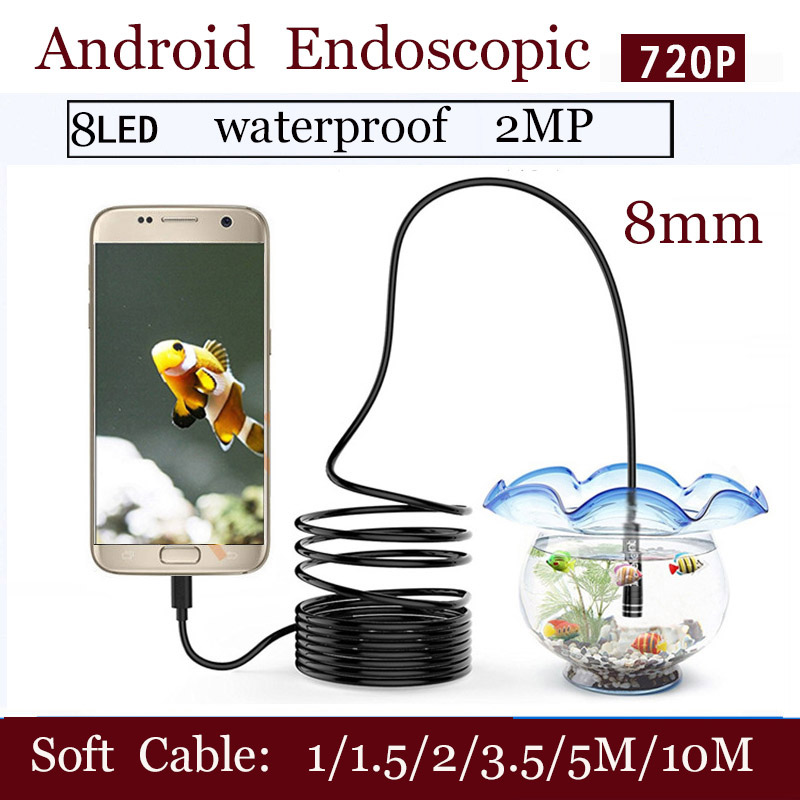 Messung Und Analyse Instrumente Werkzeuge Shina 8mm Weichen Kabel Android Usb Endoskop Kamera Inspektion Kamera Android Telefon Endoskop Rohr Kamera 1 Mt/1,5 Mt/2 Mt/3,5 Mt/5 Mt/10 Hochwertige Materialien