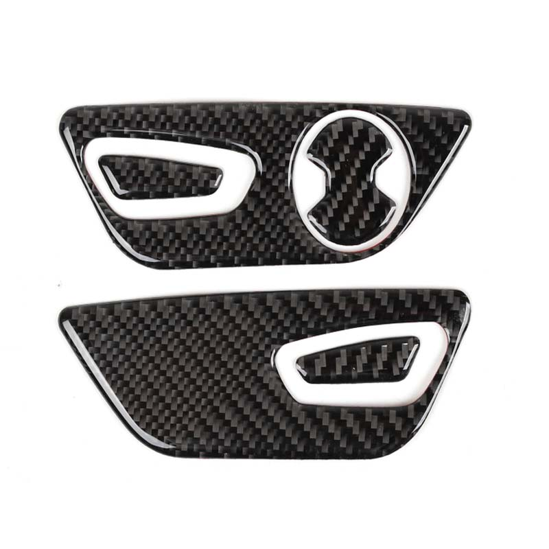 YAQUICKA For Ford Mustang 2015 Up Car Accessories Seat Adjustment Decoration Cover Sticker Interior Carbon Fiber
