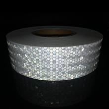 5cmx50m Reflective Bicycle Stickers Adhesive Tape For Bike Safety White Red Yellow