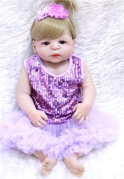 "NPK 22"" silicone reborn baby dolls lifelike  girl princess dolls bebe realistic reborn bonecas creative child xmas gift"