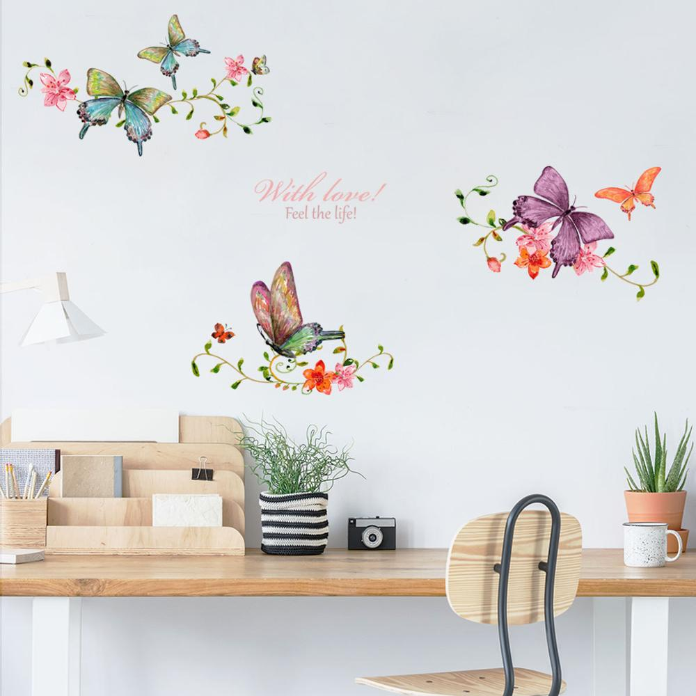 Dream home Y1610 with love iris vine creative wall stick TV background wall window decoration stick in Wall Stickers from Home Garden