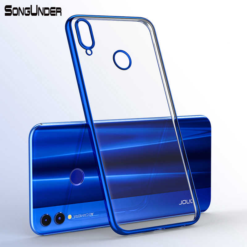 For Huawei Honor 8X Case Cover Transparent Plating Soft Silicone Back Cover For Huawei Honor8X 8X Max Lite 8XMax 8C Phone Coque
