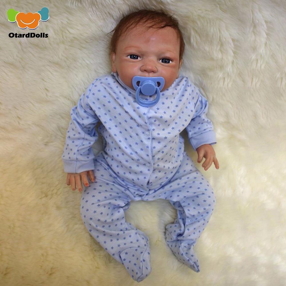 OtardDolls bebe Reborn Dolls 18 inch 46 cm Silicone babies reborn Doll Newborn Girl Lifelike Babies