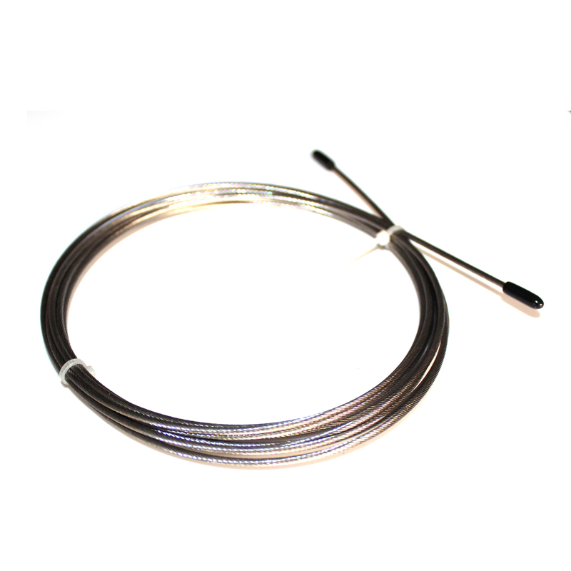 2.0mm Diameter/3M Long Replaceable Cable No PVC Coated  For JR25 Speed Jump Rope