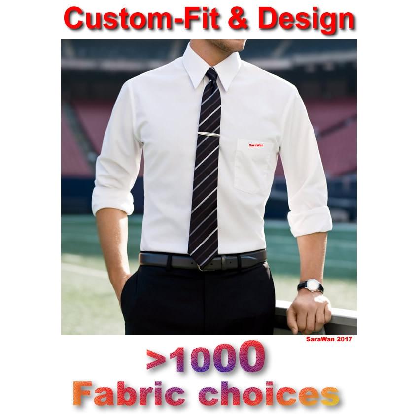 Mens Dress Shirts Custom Made White Men Shirt Long Sleeve Plaid Striped Mens Shirts Fashion Custom Tailored Slim Fit Shirt Dress
