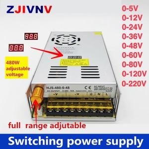 Image 1 - 480W digital display switching power supply Adjustable voltage 0 5V 12V 24V 36V 48V 60v 80V 120v 220v, 24v 20A, 48V 10a