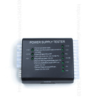 20 24 Pin PSU ATX SATA HDD Power Supply Tester Checker Meter LED Diagnostic Tool Testing