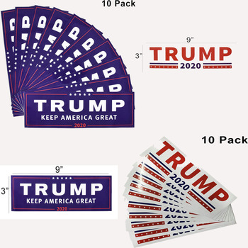 TRUMP 2020 KAG 3″ x 9″ Decal Sticker (10Pcs)