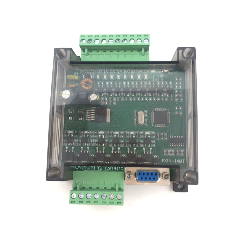 PLC Industrial Control Board With Housing FX1N-14MR FX1N-14MT Controller Programmable Module
