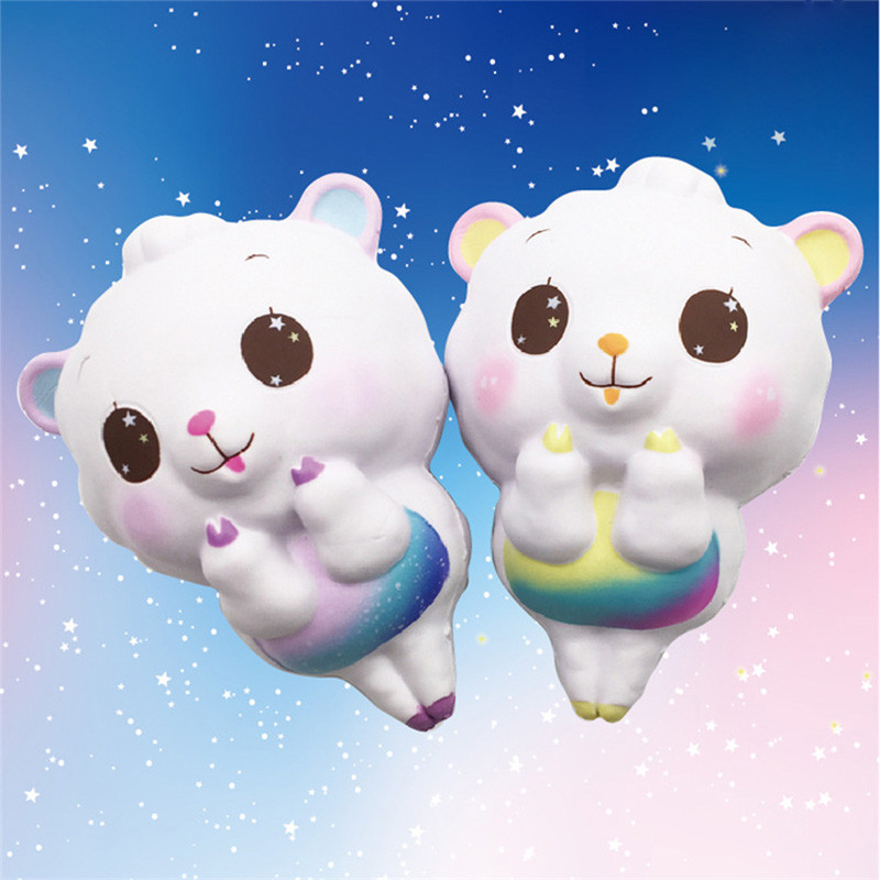 Kawaii Scented Cute Big Sheep Alpaca Squishy Slow Rising Soft Squeeze Fun Decompression Kids Toy Phone Straps Childrens Gift
