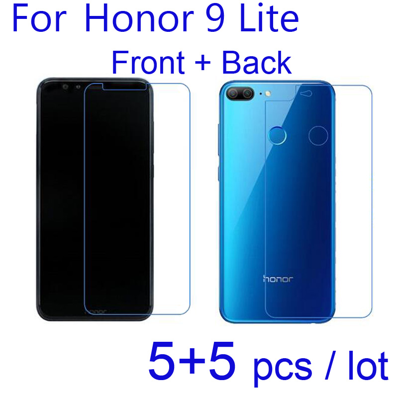 10pcs/lot Clear/Matte/Nano Anti-Explosion Protective Film Soft Screen Protectors for Huawei Honor 9 Lite Both Front + Back Guard