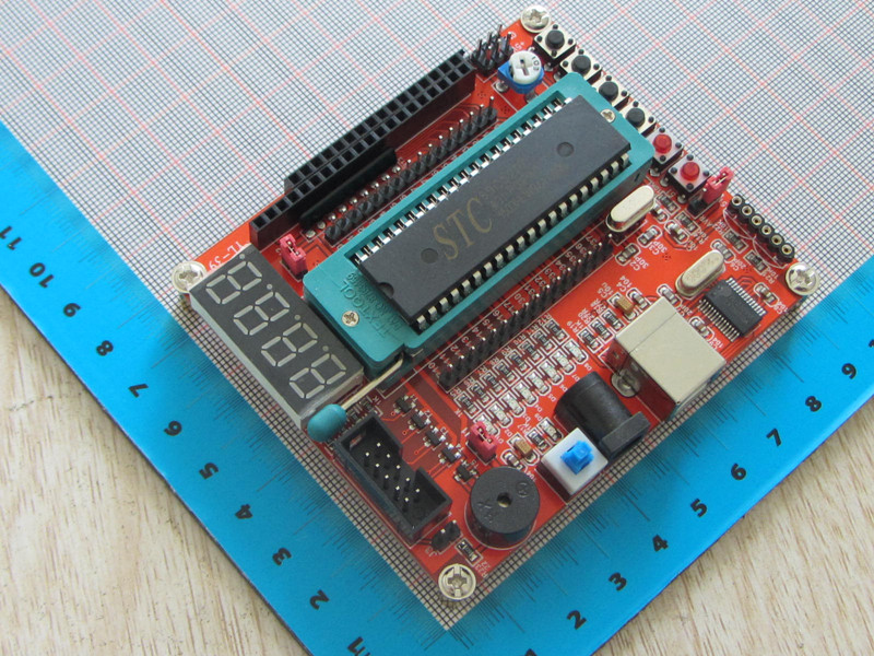 Free Shipping STC89C52 51/AVR microcontroller development board With SCM+usb cable minimum SCM system board for Arduino