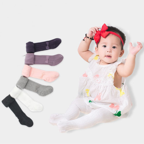 Pudcoco Toddler Infant 0-6Y Kids Baby Girls Cotton Warm Bow Over Knee Pantyhose Tights with 5 Colors