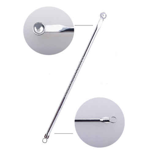 2pcs Stainless Steel Blemish White Headband Blackhead Come Done Acne Extractor Remover Tool Needles Pimple Kit Makeup Tools