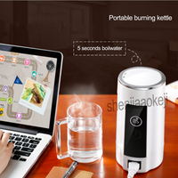 0.6L Portable burning kettle Small Travel Electric Cup Boiled Water Stainless steel Mini Tour Kettles 1PC