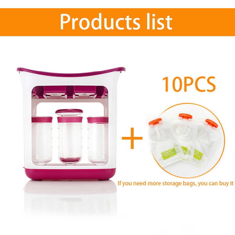 New Infant Baby Food Fruit Juice Maker Distributor Food Mills Containers  Storage Baby Feeding Maker Supplies