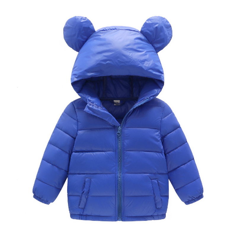Girls Clothing Down & Parkas 2017 Winter Solid Cotton Colorful Hooded Kids Boys Jacket Casual Children Outwear Coats Tops 3dp019 2016 winter thin down jacket fashion girls boys cotton hooded coat children s jacket outwear kids casual striped outwear 16a12