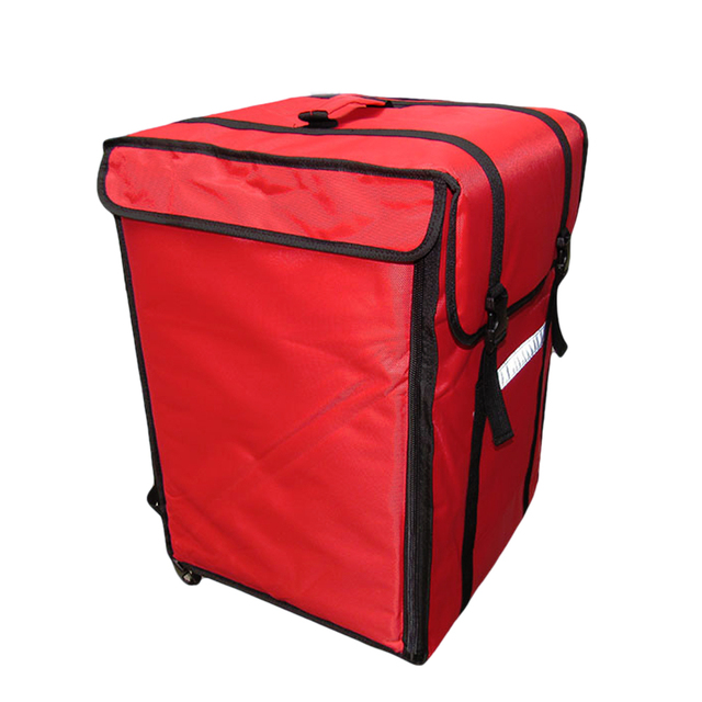 69l Insulated Pizza Bag Large Thermal Cooler Food Container Refrigerated Incubator Hamburg Takeaway Cake Delivery