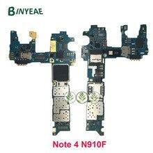 BINYEAE Europa Versie Voor Samsung Note 4 N910F Moederbord 32GB Moederbord Met Chips IMEI 100% Goede werken logic board