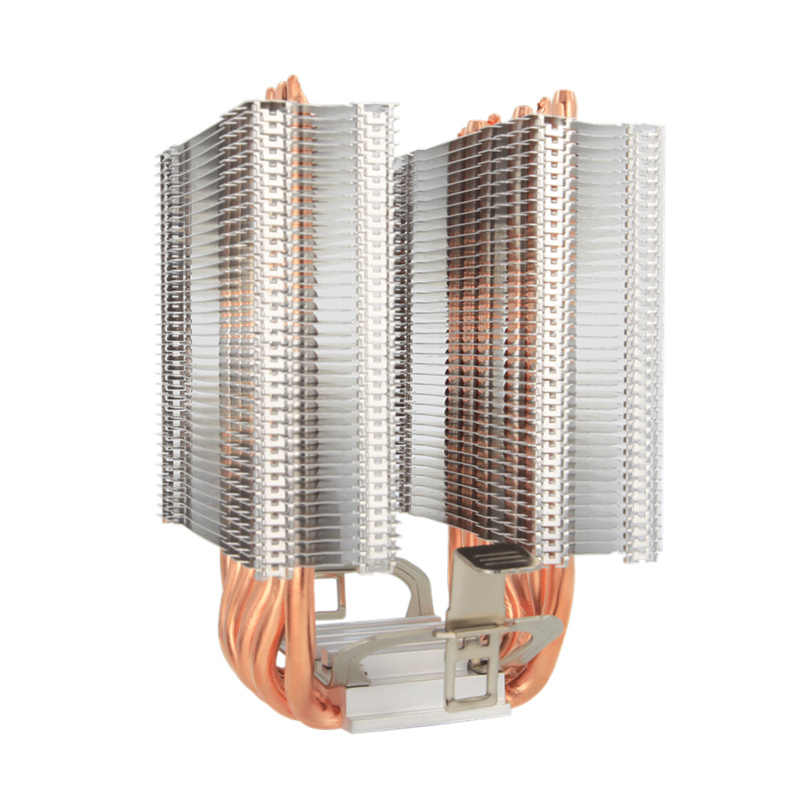 ALSEYE 6 Pipa Panas CPU Cooler Intel 115X 1366 9 Cm RGB Fan Dual-Tower CPU Kipas Pendingin