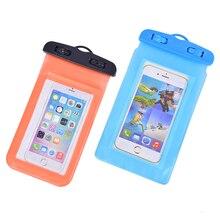 Водонепроницаемый 6 цветов плавательный мешок с светящийся подводный чехол для телефона для 5,5 дюймов следующие размеры всех телефонов 42g