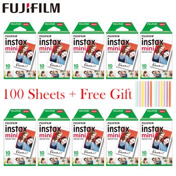 20-100 arkusze Fujifilm Instax Mini biała folia natychmiastowy papier fotograficzny do Instax Mini 8 9 7s 9 70 25 50s 90 kamera SP-1 2 kamery tanie i dobre opinie Brak Natychmiastowa Kamery Film Zestawy
