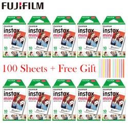 20-100 feuilles Fujifilm Instax Mini Film blanc papier Photo instantané pour Instax Mini 8 9 7s 9 70 25 50s 90 appareil Photo SP-1 2 appareil Photo