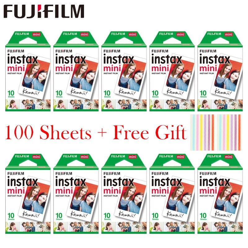 20-100 hojas Fujifilm Instax Mini película blanca papel fotográfico instantáneo para Instax Mini 8 9 7 s 9 70 25 50 S 90 Cámara SP-1 2 Cámara