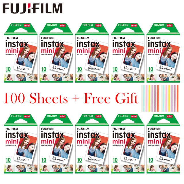 20   100 sheets Fujifilm Instax Mini White Film Instant Photo Paper For Instax Mini 11 8 mini 9 7s 9 70 25 50s 90  Camera SP 1 2