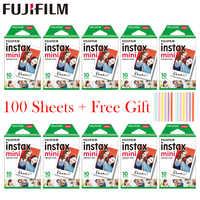 20 - 100 sheets Fujifilm Instax Mini White Film Instant Photo Paper For Instax Mini 8 9 7s 9 70 25 50s 90 Camera SP-1 2 camera