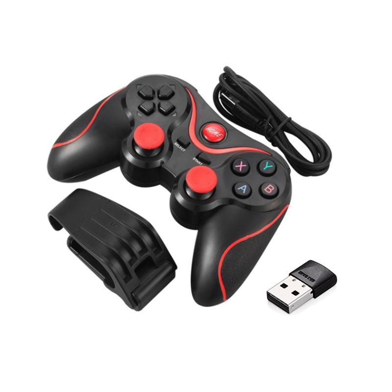S5 Wireless Gamepad Joystick Bluetooth Game Controller For Mobile Phone Tablet TV Box Holder-in Gamepads from Consumer Electronics
