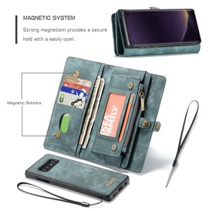 Image 3 - Wallet Case Voor Samsung Galaxy S10 Rits Magnetische Telefoon Case Folio Flip Cover Voor Samsung A51 S20 Plus A50 A70 a80 S9 S8 Note 9
