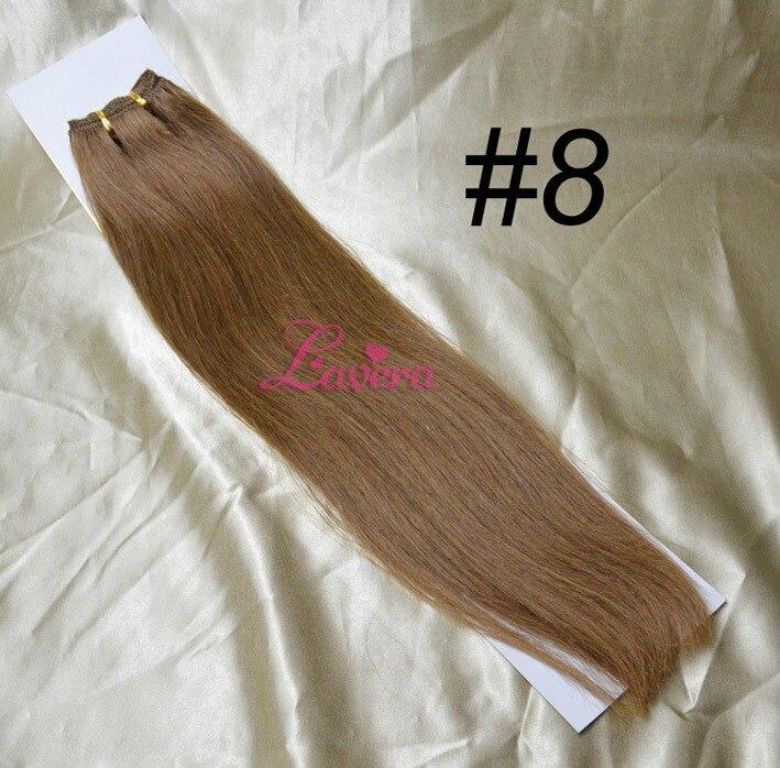 Hoge Kwaliteit Braziliaanse Human Hair Extensions Kleur 4 8 27 613