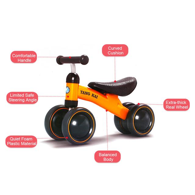 Vélo Enfants Trois roue Équilibre Scooter Bébé Marcheur 1-3 Ans Tricycle Vélo