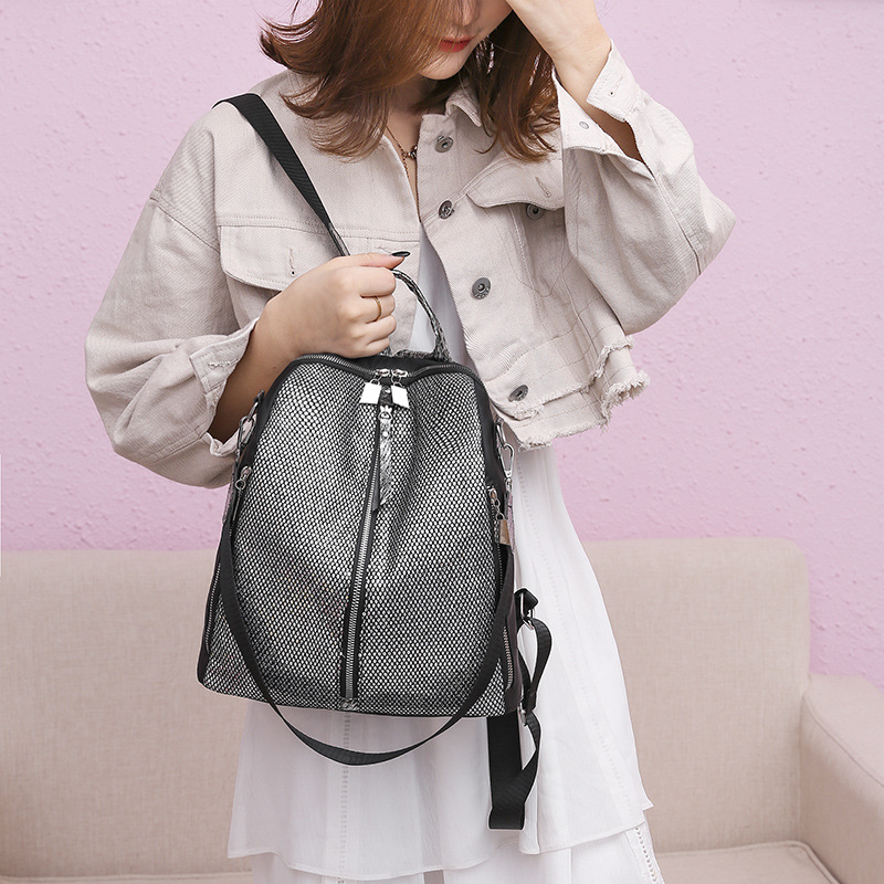 New Fashion Backpack Women Sequin Oxford Bagpack Female Anti Theft Backpack School Bag for Girls Sac A Dos mochila mujer in Backpacks from Luggage Bags