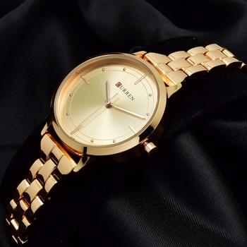 CURREN Rose Gold Bracelet Watch Women Wrist Watches Ladies 2017 Golden Wristwatch Female Clock Montre Femme Relogio Feminino дамски часовници розово злато