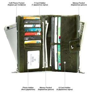 Image 5 - WESTAL 100% kadın cüzdan hakiki deri kadın debriyaj uzun cüzdan bayan cüzdanlar ve çantalar Portomonee para çanta para kesesi