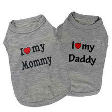 Love Mom Dad Dog Clothes