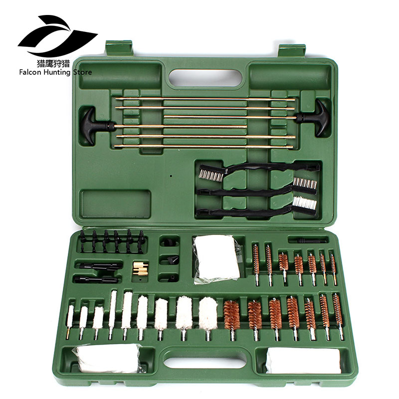 62 Piece Tactical Hunting Universal Gun Cleaning Kit Supplies For Air Gun Rifle Pistol Shot фляга shot gun