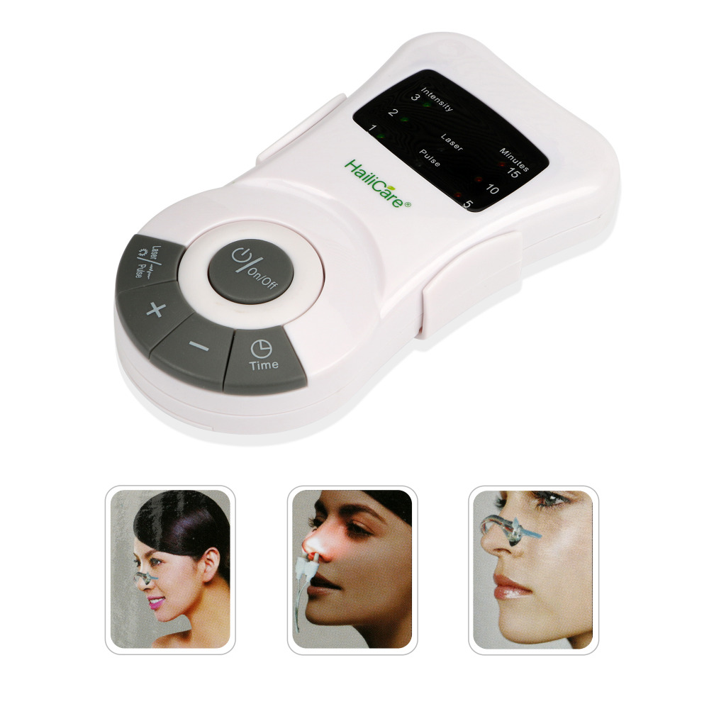 Rhinitis Allergy Reliever Low Frequency Pulse Laser Allergic Rhinitis Sinusitis Relief Anti-snore Nose Massager Therapy Device