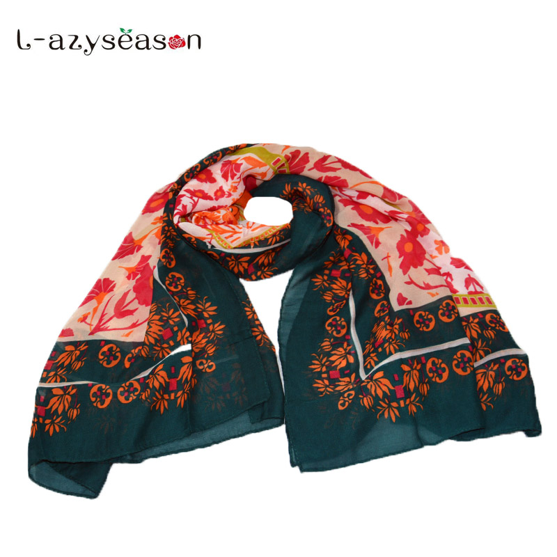 2018 newest Unique Women Scarves Chiffon Cute Printed Scarf New Design Soft Shawls Spring Summer Autumn Hijab beach Wraps