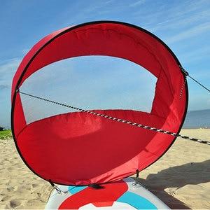 "Image 5 - 42 ""/108 Cm Zeil Opvouwbare Kajak Boot Wind Zeil Kano Sup Paddle Board Met Clear Window Drifting Varen accessoire"