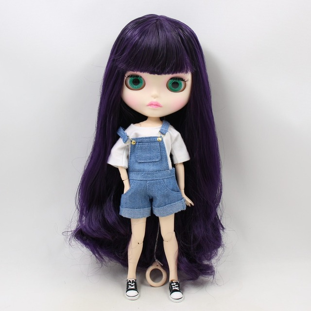 TBL Neo Blythe Doll Purple Hair Jointed Body