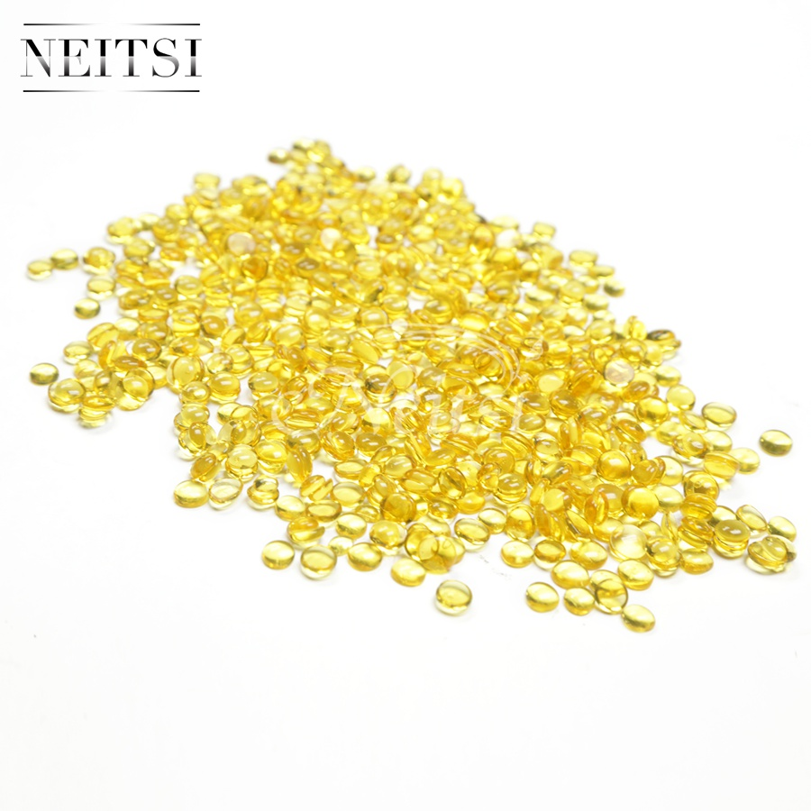Neitsi Hair Fusion Yellow Keratin Glue Tools for Keratin Human Hair Extensions 400 PCS 45g pack Adhesive Glue Granules Beads in Adhesives from Hair Extensions Wigs