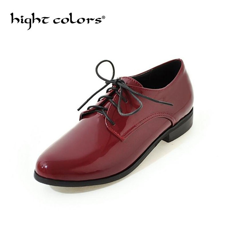 Black Sliver Patent Leather Women Oxfords Shoes Spring Pointed Toe Platform Flats Low Heels Casual Brogue Shoes Woman qmn women crystal embellished natural suede brogue shoes women square toe platform oxfords shoes woman genuine leather flats page 1