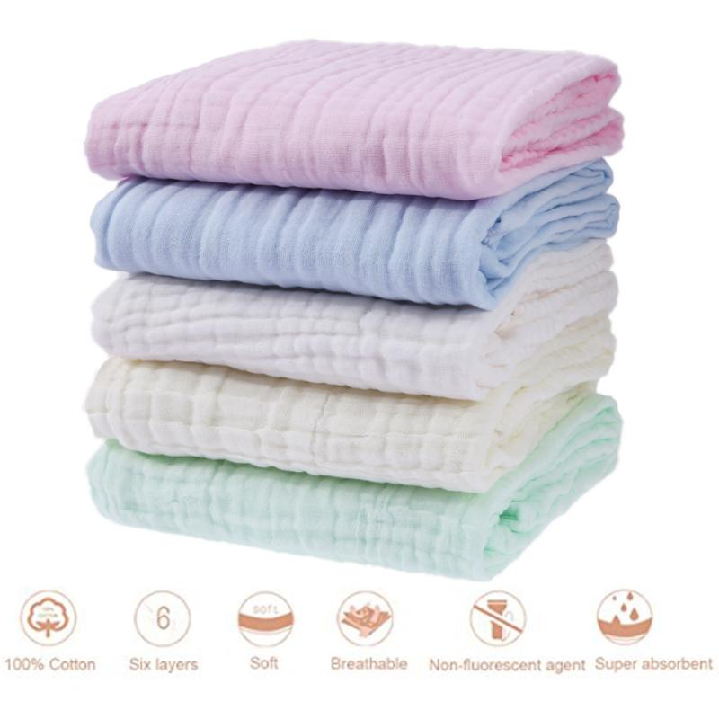 6 Layers Baby Bath Towel Bamboo Material Childrens Towels Soft Cotton Towel Baby Bath Towel Envelope For Newborns Bathrobe