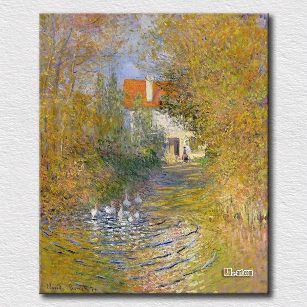 Moderne mur art les oies dans le ruisseau Claude Monet populaire vente chaude peinture pour la décoration de la maison impressions sur toile