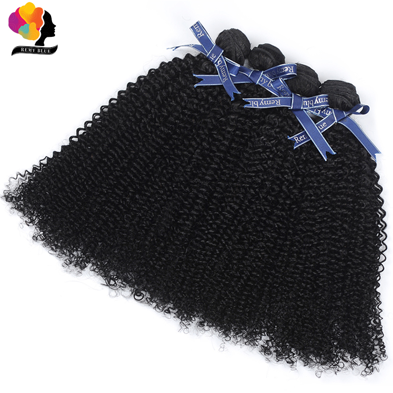 Malaysian Afro Kinky Curly Hair 4 Bundles Deals Natural Black Color Thick Bundles Human Remy Hair